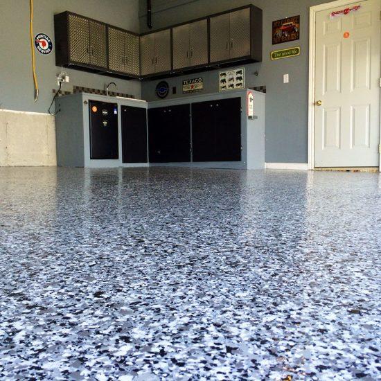 Custom Grey Garage
